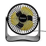Omasi Ventilatore Mini USB Ricaricabili Ventilatori Portatile,Rotazione silenziosa Regolab...