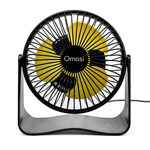 Omasi USB Ventilator Tischventilator Fan Lüfter - optimal für den Schreibtisch inkl. An Aus Schalter - Kompatibel am PC MAC Notebook Computer - in schwarz