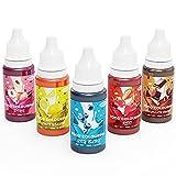EISHION Colorante Alimentario Líquido Set Colorante para Reposteria para Bebidas Pasteles Macarons (50ml,5)