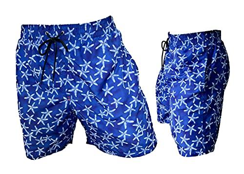 costume mare uomo jaked Navigare Boxer Mare Costume Uomo Pantaloncini da Bagno Anche in Taglie conformate (98381 Bluette