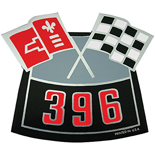 RestoParts AC00136 Crossed Flags 396 Air Cleaner Decal 1964-1977 Chevy Chevelle/