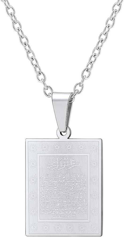 PROSTEEL The Holy Quran Pendant Necklace, Vintage, Islam Jewelry, Islamic Fashion, Ramadan Gift
