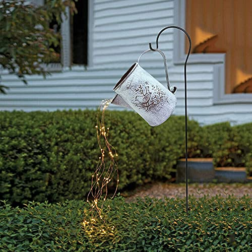 Watering Can Shape Decor Led String Lights, Waterproof Star Shower Garden Art Light, Used for Terrace Garden Aisle Decoration Wedding Party Holiday Decoration