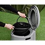 PORTABLE OUTDOOR / INDOOR GREY TOILET - POTTY LOO MANUAL, IDEAL FOR CAMPING CARAVAN PICNIC FISHING FESTIVALS