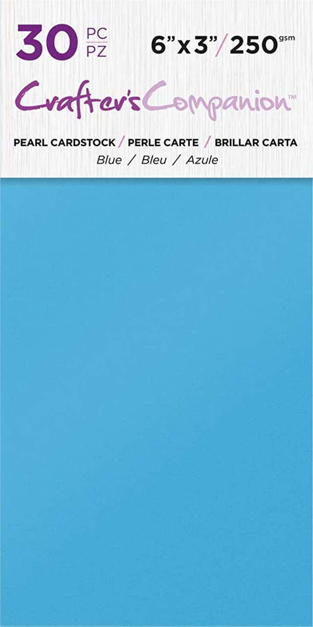 Crafter's Companion CC-PAD-PRL-Blue 6x3 Luxury Pack (30 Sheets) Cardstock