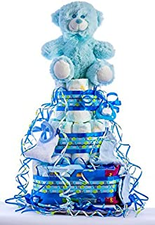 Tarta de pañales para bebé recién nacido. Un regalo