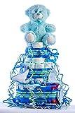 Flores AVRIL ofrece: tarta de pañales para bebé niño. Un regalo original para...