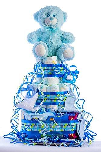 Flores AVRIL ofrece: tarta pañales bebé niño. Un