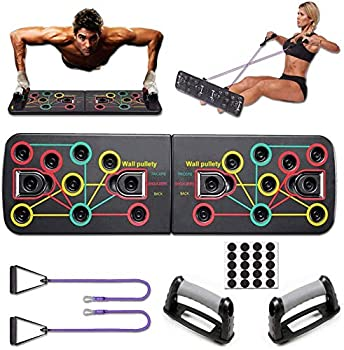 KSS 13-In-1 Portable Push Up Stands With Resistance Bands