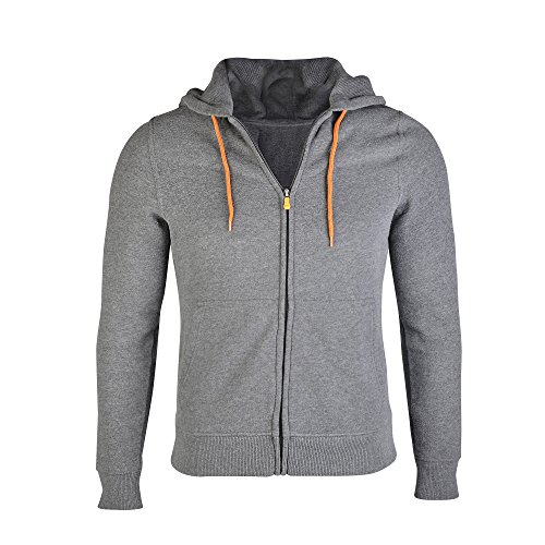 Duran Unisex Stylish Power Bank Heated Hoodie Jacket. Use Your Own Power Bank … Heather Gray