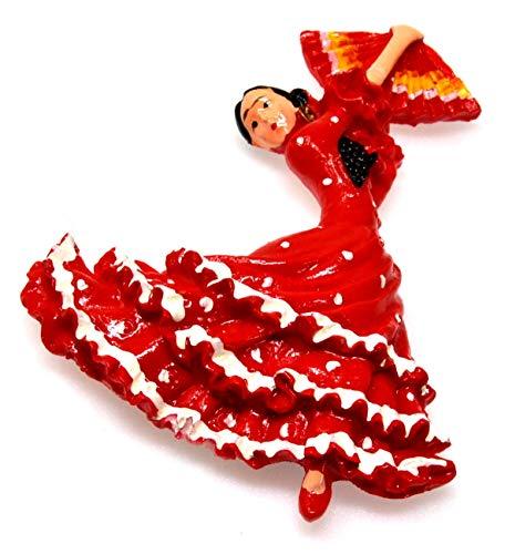 Ballerina di flamenco Calamita da frigo Ballerino Danza spagnola Frigo Distintivo magnetico Spagna regalo