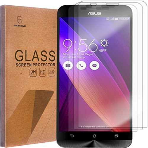 [3-PACK]-Mr Shield For Asus Zenfone 2 (5.5 Inch) [ZE550ml/ZE551ml] [Tempered Glass] Screen Protector with Lifetime Replacement Warranty