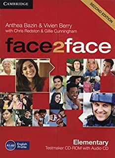 face2face Elementary Testmaker CD-ROM and Audio CD 2nd edition by Bazin, Anthea, Berry, Vivien (2012) Hardcover