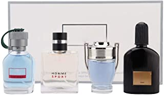 Perfume de Colonia para hombres Set de perfume para hombre de Colonia 4 x 25 ml Set de regalo de fragancia de larga dura...