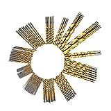 7 16 titanium drill bit - DRILLFORCE, 99PCS,HSS Titanium Coated Twist Drill Bits Set,1/16