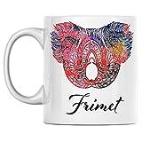 ersonal Koala Tazza da caffè in ceramica bianca con nome Frimet stampata su entrambi i lati, perfetta per compleanno, per lui, lei, ragazzo, ragazza, marito, moglie, uomini e donne