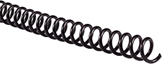plastic spiral binding sizes
