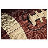 Paillasson motif ballon de rugby - Tapis de bienvenue - Tapis d'intérieur pour entrée - Antidérapant - Lavable - Pour porche, cuisine, entrée - 40 x 60 cm