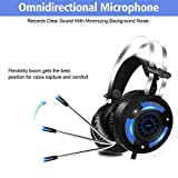 NO LOGO Cuffie Gaming for Gaming Headset Computer Games for PC Auricolare cablato LED HD Bass USB for PS4 Xbox Uno con Il Microfono (Color : Black)