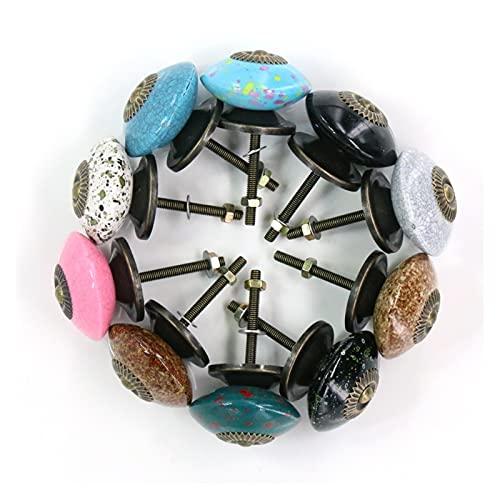 Ailiuqian. 10x Meble Szuflada Uchwyt Wyciąga Imitacja Ceramiczna farba Akrylowa Szafka Szafboardowa Gałki 39mm