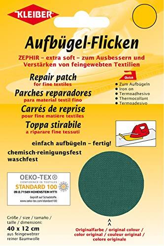 Kleiber + Co.GmbH Aufbügel-Flicken Zephir, grün, ca. 40 cm x 12 cm
