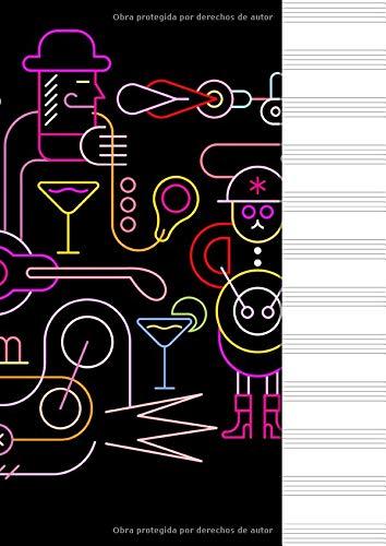 Libreta Pautada - Cuaderno de música, 12 pentagramas, 100 paginas 21 x...