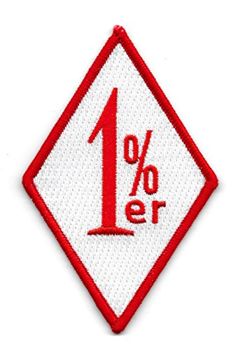 OUTLAW ONE PERCENTER 1%ER RED & WHITE MOTORCYCLE BIKER PATCH