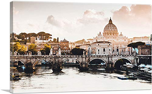 "ARTCANVAS St. Peter's Cathedral Rome Italy Canvas Art Print - 40"" x 26"" (0.75"" Deep)"