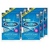 DenTek Comfort Clean Sensitive Gums Floss Picks, Soft & Silky Ribbon, 150 Count, 6 Pack