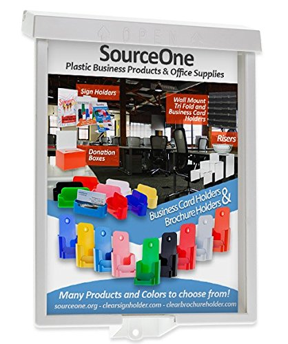 Source One 18-Pack Full Case Brochure/Flyer Holder Outdoor Realtor Info Box (S1-LG-Realtor Case)