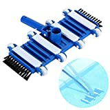 "L&C Swimming Pool Suction Vacuum Head Brush Cleaner 14"" Classic Flexible Weighted In-Ground"