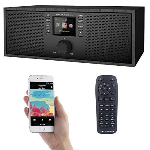 VR-Radio Radios: Stereo-WLAN-Internetradio, Farb-Display, 12 W, Bluetooth 5, Fernbed. (Radio mit Fernbedienung)