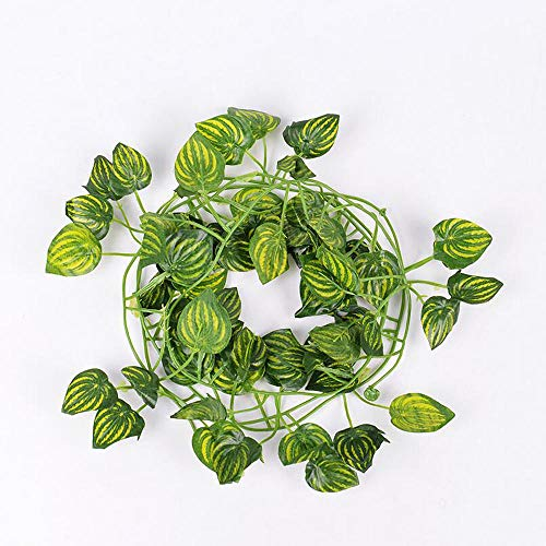 Decoration Artificial Trailing Ivy Vine Leaf Ferns Greenery Garland Plants Foliage Flowers Decorations (Color : #2)