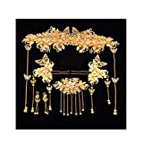 Chinese Ancient Bridal Hair Ornaments Wedding Hair Styling Earrings Sets Accessories Hairpin, 01