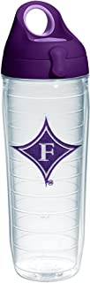 Tervis Furman Paladins Logo Insulated Tumbler with Emblem and Purple Lid, 24oz Water Bottle, Clear