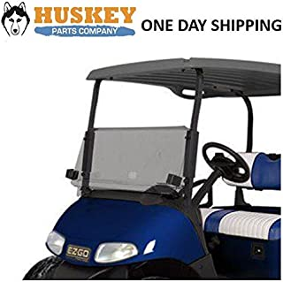 Huskey EZGO RXV Golf Cart Windshield W/Rubber Trim Folding Tinted, Impact Resistant