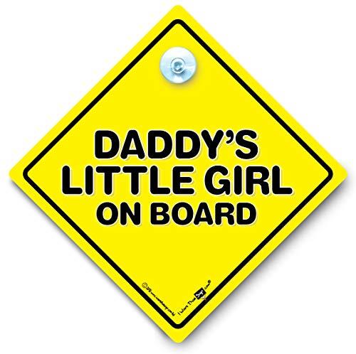 """Daddy's Little Girl On Board"" Schild mit Saugnapf, Auto-Schild, Kinderfahrzeug-Aufkleber, Kind im Fahrzeug"