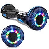 GeekMe Hoverboards 6.5 Pollici Scooter Elettrico Autoalimentato Hoverboards Bluetooth Lampade...