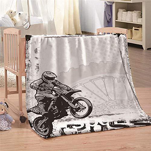 Ahhblan Kuscheldecke Flauschige Decke Motorrad Wohndecke Microfaser Flanell Decke Super Weiche Fleece Sofadecke Überwurfdecke für Kinder Kuschelige Reisedecke 150x200 cm
