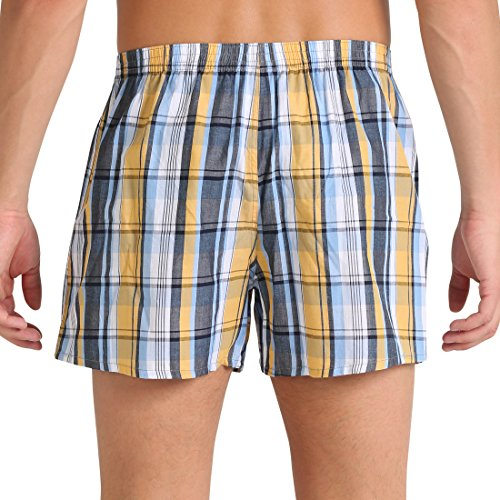 Lower East Men's American Boxer Shorts, Pack of 6 Multicoloured - X-Large