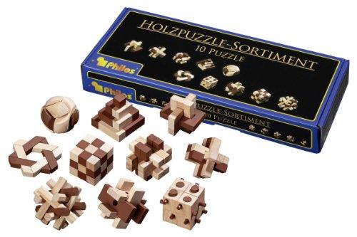 Philos Coffrets 10 Mini Casse-têtes en Bois - Jeux