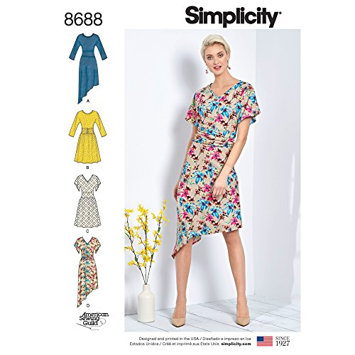Sizes XS-M Simplicity US8613A Mens Knit Long Short Sleeve Shirt Patterns by Mimi G Style