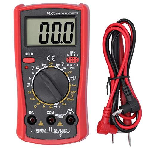 Teror Multímetro, multímetro electrónico LCD Multímetro Digital Voltaje Resistencia Corriente Medidor probador eléctrico