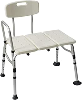 TUHFG Shower Stool Bath Seats Shower Bench&Stool Shower Stool with Backrest and Handles with Mobility Anti-Slip Rubber fee...