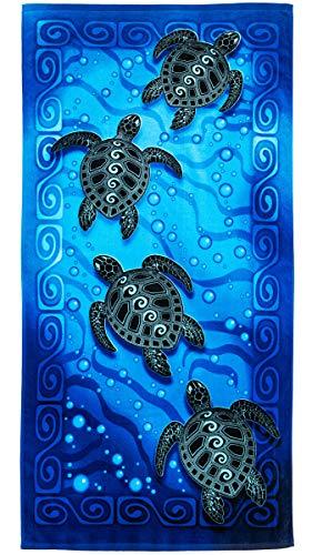 Tribal Sea Turtles Super Soft Plush Cotton Beach Bath Pool Towel