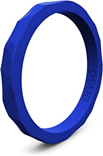 Enso Rings Hammered Stackable Silicone Ring   Premium Fashion Forward Silicone Ring   Hypoallergenic Medical Grade Silicone   Lifetime Quality Guarantee   Commit to What You Love