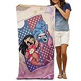 chenguang4422 Lilo Stitch Bath Towels Large Soft Bathroom Absorbent Towel Women Men Apply to Beach Sports Travel Washcloths