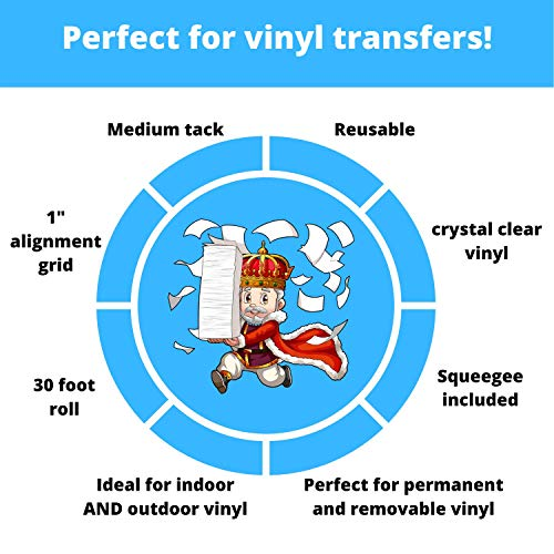 Royal Elements Transfer Tape for Vinyl - 12 inch x 30 FEET Self Adhesive Transfer Tape roll Perfect for Cricut and Silhouette