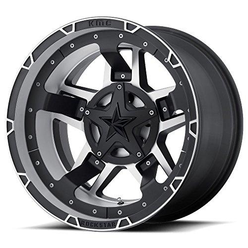XD SERIES BY KMC WHEELS XD827 ROCKSTAR III BLACK Wheel Chromium (hexavalent compounds) (20 x 10. inches /8 x 125 mm, -24 mm Offset)