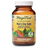 MegaFood, Men's One Daily, Daily Multivitamin and Mineral Dietary Supplement with Vitamins B, D and Zinc, Non-GMO, Vegetarian, 60 Count (60 servings)